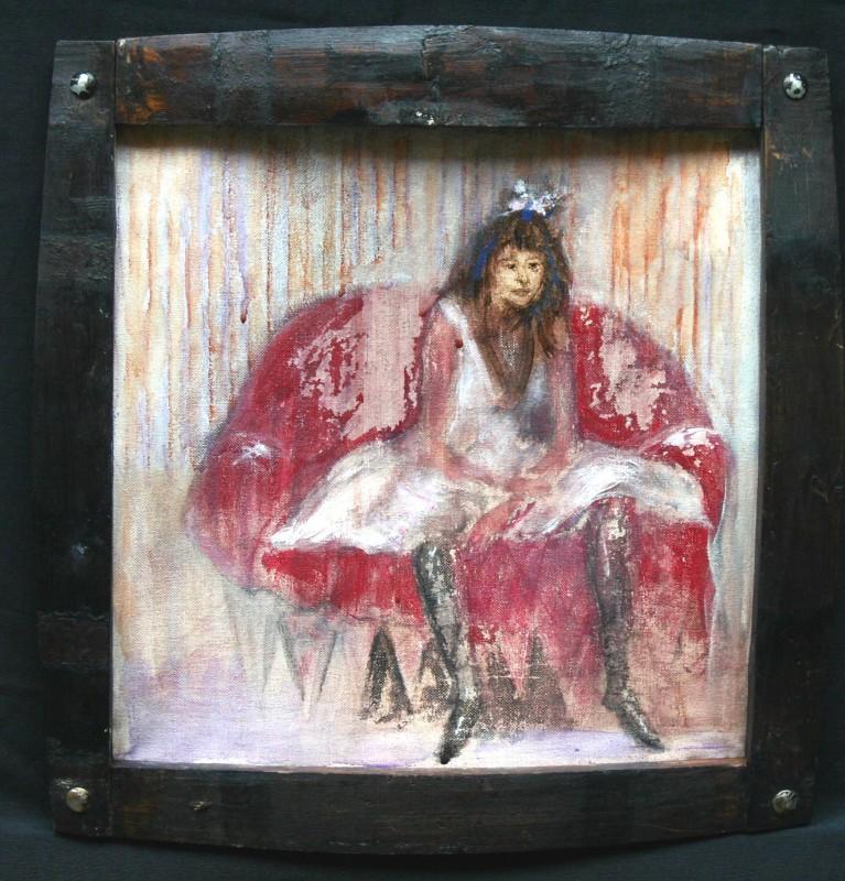 12-The dancer (II).0,40 x 0,40 cm.oil on canvas framed-250€.